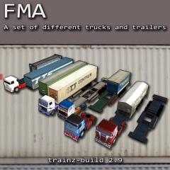 FMA2 trucks and trailers set